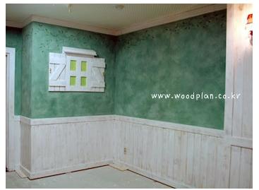 스웨이드기법을 이용한 벽면페인..